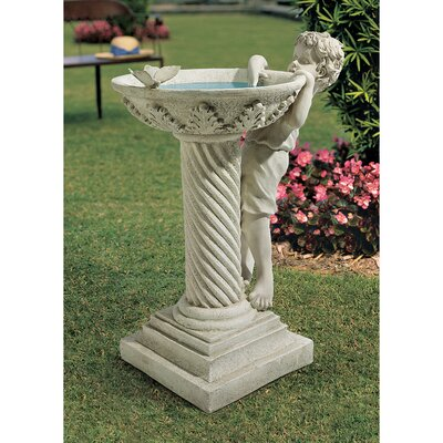 Design Toscano Summer's Splash Birdbath Statue