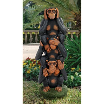Hear No Evil See No Evil Speak No Evil Monkeys Grand Scale Statue