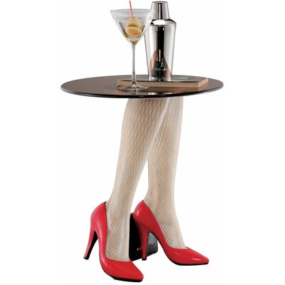 Design Toscano Fishnets and Heels Sculptural End Table