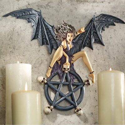 Design Toscano Temptress Traci Pentagram Wall Sculpture