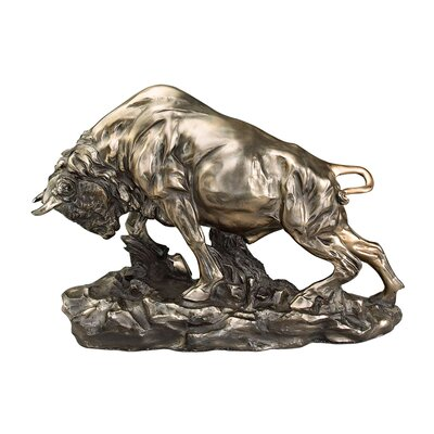 Charge of the Buffalo Sculpture