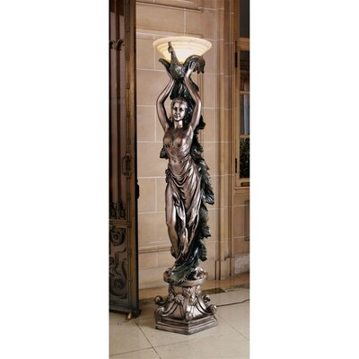 Design Toscano The Peacock Goddess Torchière Floor Lamp