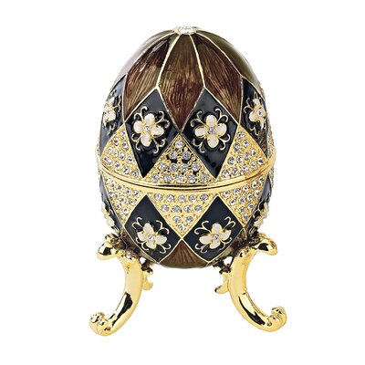 Harlequin Faberge Style Enameled Eggs Set