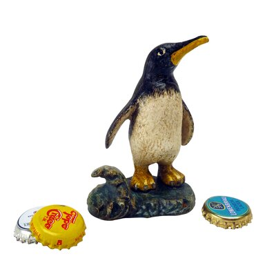 Design Toscano Polar Penguin Cast Iron Bottle Opener