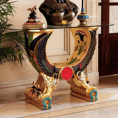 Design Toscano Egyptian Wings of Horus Grand Altar Console Table