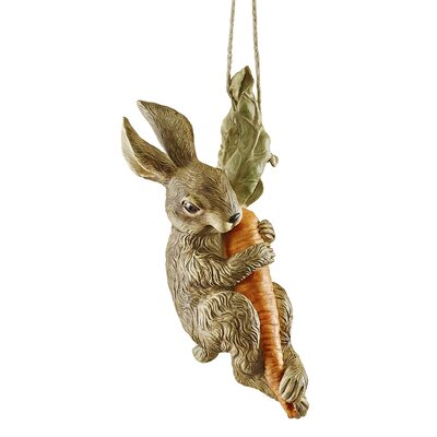 Design Toscano The Carrot Caper Swinging Bunny Rabbit Statue