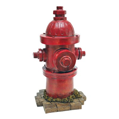 Design Toscano Fire Hydrant Statue Dog's Second Best Friend Statue