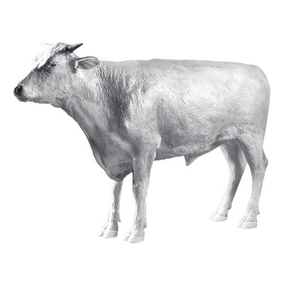 The Grand - Scale Wildlife Animal Unpainted Hereford Steer Statue