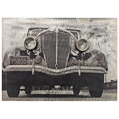 On the Road Classic Car Front Vintage Auto Wall Art