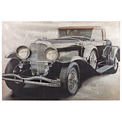 On the Road Classic Car Side Vintage Auto Wall Art