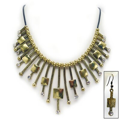 Design Toscano Glamorous Gal Art Deco Necklace and Earrings Ensemble