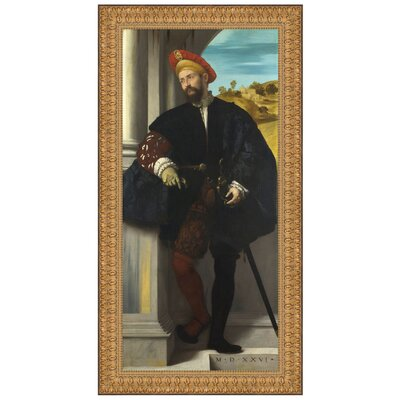 Portrait of a Man, 1526 Replica Painting Canvas Art