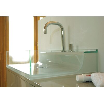 Whitehaus Collection Aeri Vetro Glass Above Mount Bathroom Sink