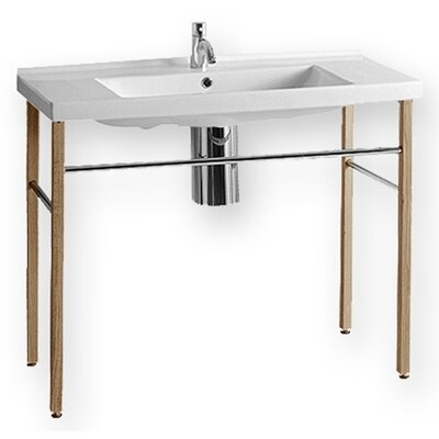 China Rectangular Console Bathroom Sink - LU040-LUA7