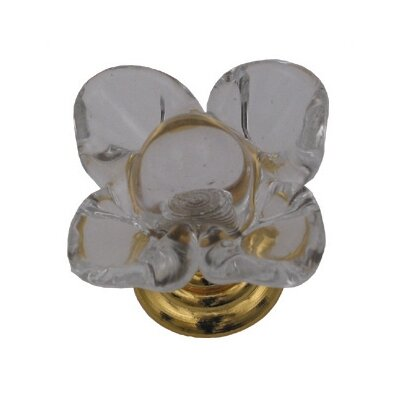 Whitehaus Collection Cabinetry Hardware Floral Shape Crystal Cabinet Knob