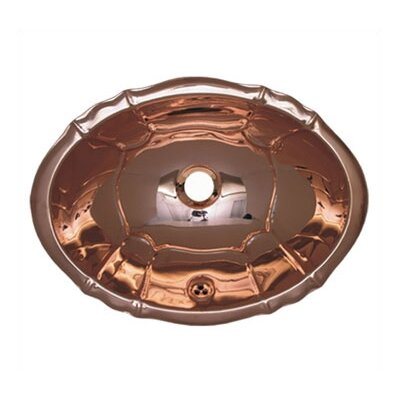 Whitehaus Collection Decorative Drop-in Smooth Oval Fluted Design Basin