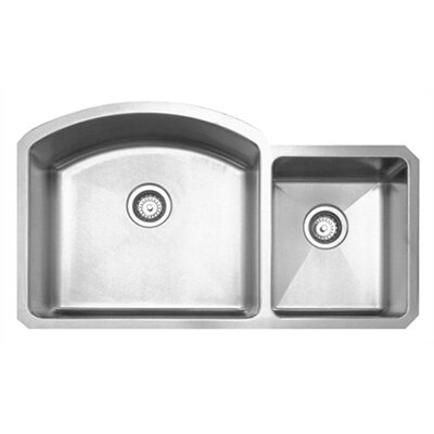 "Whitehaus Collection Noah's Chefhaus 36.875"" Double Bowl Undermount Kitchen Sink"