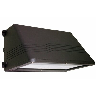 Deco Lighting 150W Induction Large Cut-Off Trapezoidal Wall Light in Bronze