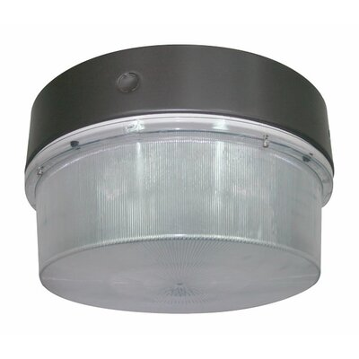 Deco Lighting 150W Round Luminaire Flush Mount in Bronze