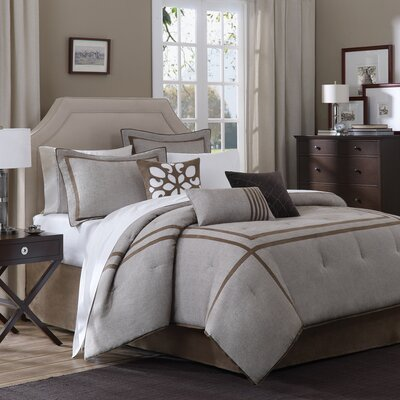 Madison Park Easton 7 Piece Woven Comforter Set in Linen