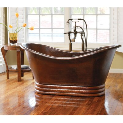 Native Trails, Inc. Aurora Hand Hammered Copper Slipper Bathtub