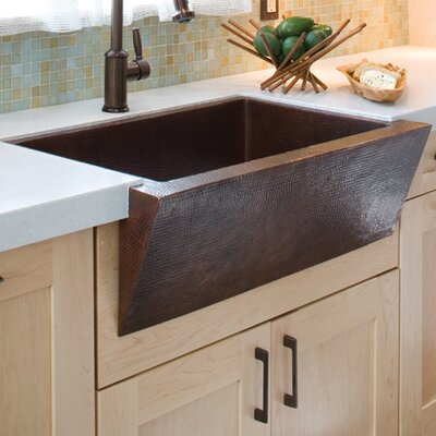 "Native Trails, Inc. 33"" x 22"" Zuma Hand Hammered Farmhouse Kitchen Sink"