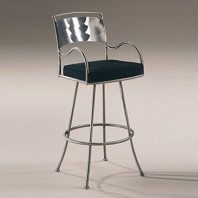 Armada Contemporary Swivel Barstool with Arms
