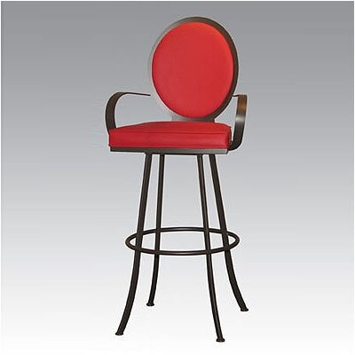 Johnston Casuals Studio II Contemporary Swivel Barstool with Arms