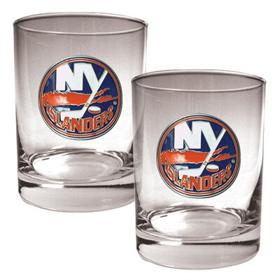 Great American Products NHL 2 Pieces Rocks Glass Set - Primary Logo