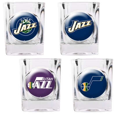 Great American Products NBA Square Shot Glass 4 Piece Set (Individual Logos)