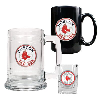 Great American Products MLB 15oz Tankard, 15oz Ceramic Mug and 2oz Shot Glass Set - Primary Logo