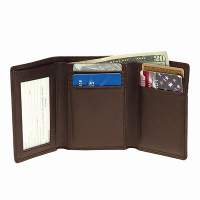 Men's Trifold Wallet with Double ID Windows