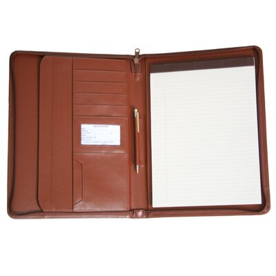 Royce Leather Zip-Around Padholder/Organizer
