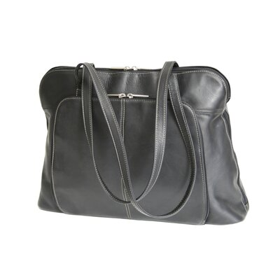 Royce Leather Vaquetta Nappa Ladies' Tote in Black