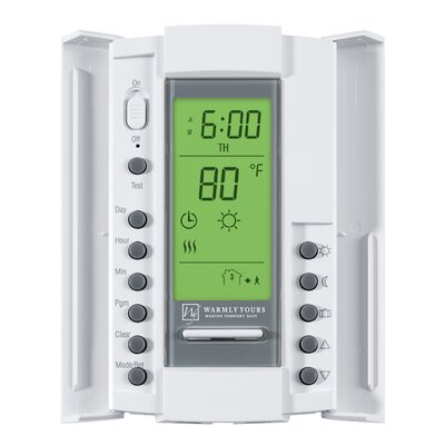 WarmlyYours SmartStat Programmable Thermostat for Dual Voltage