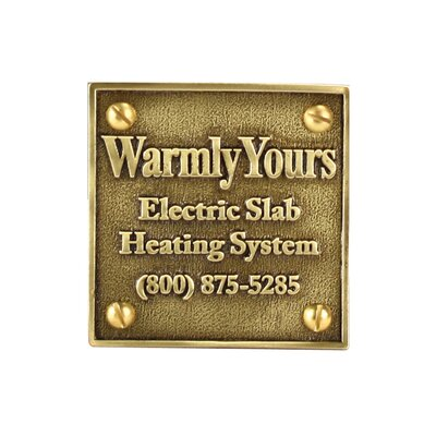 WarmlyYours Snow Melt Plaque