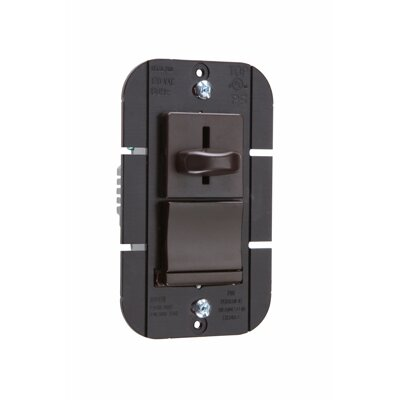 Legrand TradeMaster 1000W Decorator Single Pole Slide Dimmer Preset in Brown