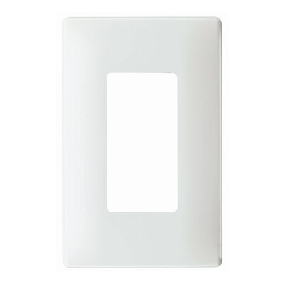 Legrand Single Gang Decorator Screwless Wall Plate in White