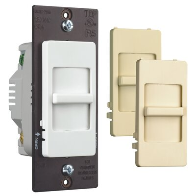 Legrand TradeMaster Decorator Three Way Slide Dimmer with Interchangeable Faces Preset