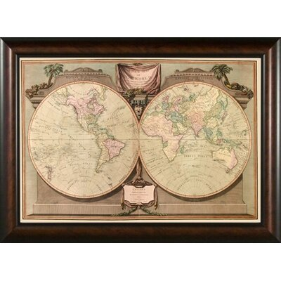 Phoenix Galleries World Map 1808 Framed Print