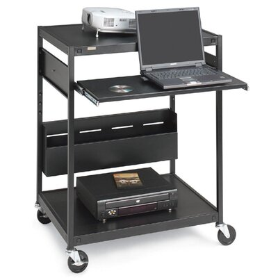 "Bretford Manufacturing Inc Data Projector Cart, 4 Outlets, 20' Cord, 32""x24""x42"", Black"