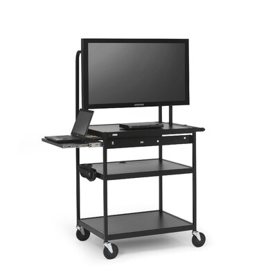 "Bretford Manufacturing Inc Cart with Laptop Shelf for 26"" to 42"" Flat Panels"