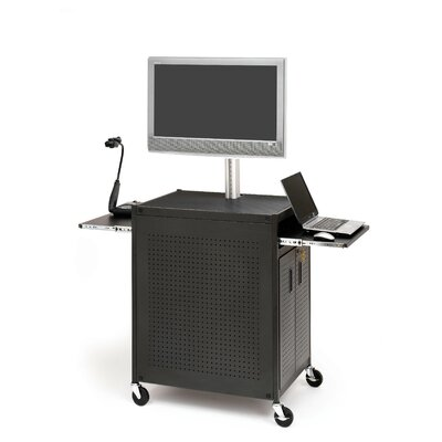 Bretford Manufacturing Inc Flat Panel Cart with Locking Cabinet