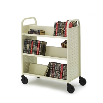 "Bretford Manufacturing Inc Book Truck, 6 Shelves, 5"" Cast, 2 Locking, 36""x18""x44"", PY"
