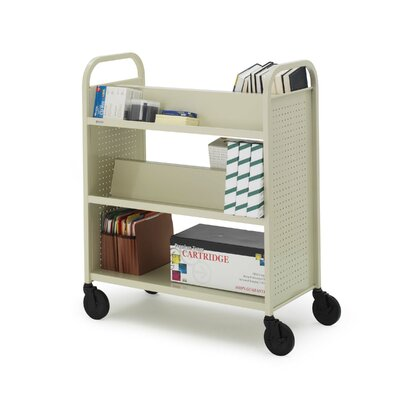 Bretford Manufacturing Inc Voyager Series Book & Utility Truck with Double-Sided Upper Shelf