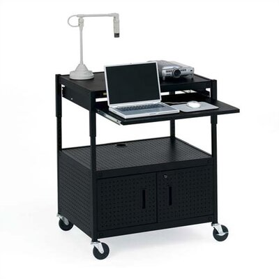 Bretford Manufacturing Inc Height Adjustable Multimedia Presentation Cart with 10 Electrical Outlets