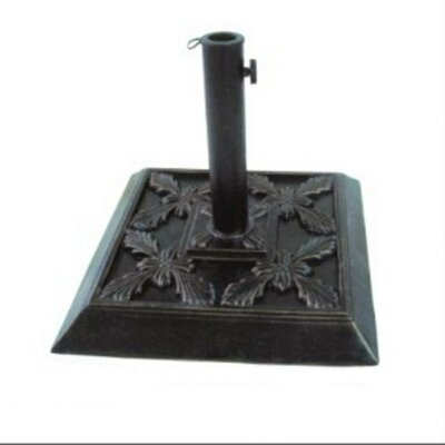 "DC America 13"" Free Standing Square Cast Stone Umbrella Base"