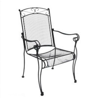 DC America Charleston High Back Dining Arm Chair, Set of 4