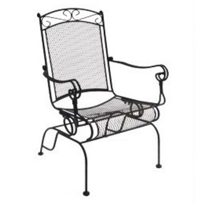 Charleston Wrought Iron High Back Rocking Chair, Set of 2