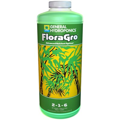 General Hydroponics 1 qt Flora Grow Fertilizer